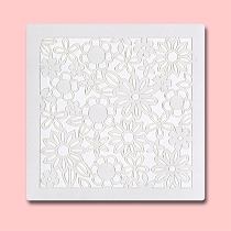 Seamless Flower -  Bakery Decorating Stencil - Square 5.5